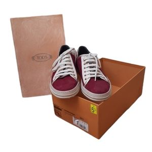 TODS CLASSIC SUEDE LEATHER SNEAKERS